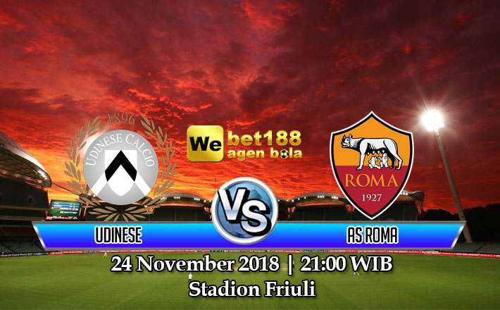 Prediksi Bola Udinese vs AS Roma 24 November 2018