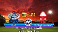 Prediksi Bola QPR Vs Nottingham Forest 27 April 2019